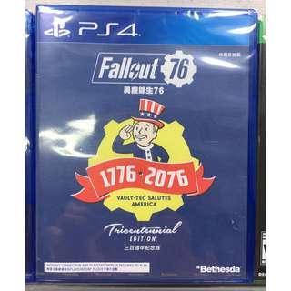 全新 PS4 Fallout 76 Tricentennial Edition 異塵餘生 76 300週年紀念版 行貨 中英文版