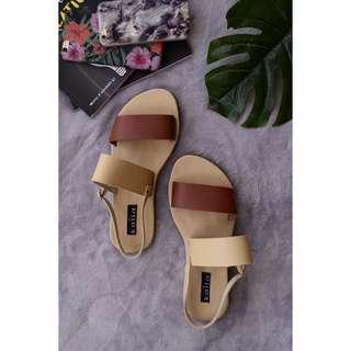 FREE SF — TWO TONE SANDALS