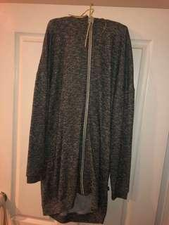 Minkpink Long Grey Zip Jacket - Size Small