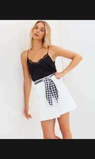 White mini skirt - brand new
