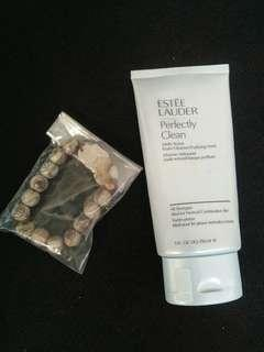 Estee Lauder Facial wash + wealth beaded charm bracelet