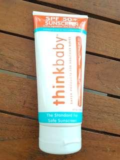 Thinkbaby Safe Sunscreen SPF 50+, 6oz (exp 07/20)