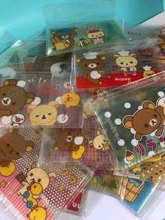 28 pieces of San-X Rilakkuma PVC Plastic Card Holder
