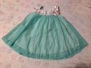 Baby girl teal dress
