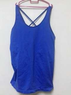 H&M SPORT Blue Workout Top #DeclutterWithJohanis #XMAS50