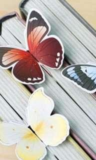 9 pieces of Butterfly Bookmarks