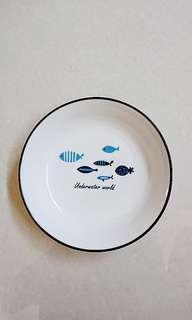🚚 小魚圖案zakka風瓷盤/菜盤/碟