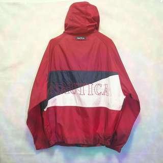 三件7折🎊 Nautica 風衣外套 薄外套 夾克 紅白藍 大電繡logo 極稀有 老品 復古 古著 Vintage