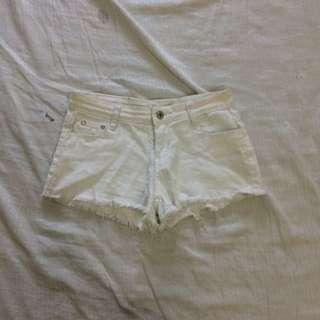 k2 white denim shorts