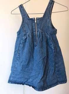 🚚 全新💕女童韓版牛仔背心裙。丹寧牛仔吊帶裙110cm。萌娃必備😍