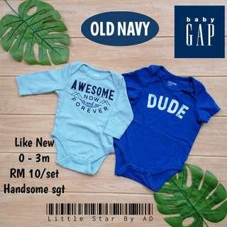 Baby Rompers (baby gap & old navy)