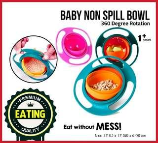 💥360 Degree Baby Gyro Bowl Spill Proof Rotation Non Spill💥