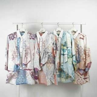 Baju Blus Blouse Tangan Panjang Long Sleeve