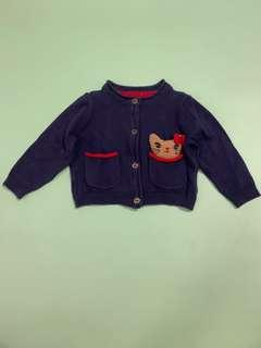 Preloved mothercare cardigan baby sz up to 3m
