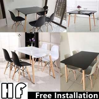 Dining table set/Eames table set/ Type 4(Black,White)