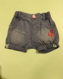 Preloved mothercare short pants sz upto 3m