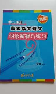 Secondary 2 Higher Chinese 2B 词语 assessment book