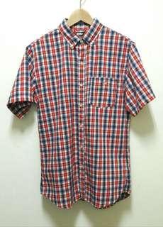 🚚 🔥NIKE 格子 格紋 短袖 襯衫 上衣 休閒 百搭 稀有 老品 古著 復古 Vintage