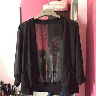 Sheer bomber jacket