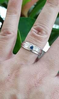Trilliant cut sapphire ring Dec Offer $200