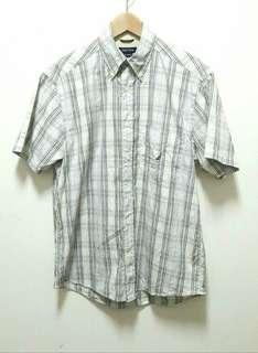 🚚 🔥NAUTICA 格紋 格子 短袖 襯衫 上衣 休閒 百搭 稀有 老品 古著 復古 Vintage