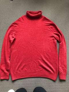 Red Turtleneck Sweat