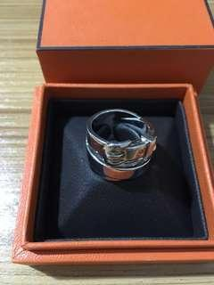 HERMES SILVER RING SIZE 51
