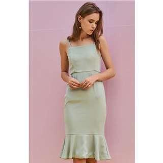 Juliane Midi Dress in Spring Mint