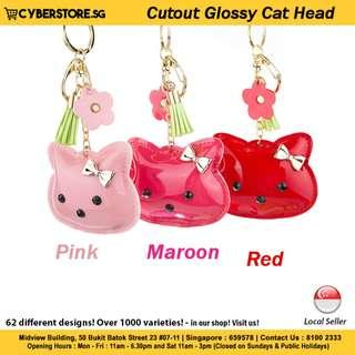 Bag Charm(Cutout Glossy Cat Head)