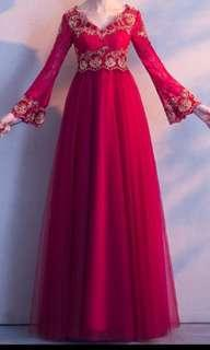 高腰.修身.婚紗裙.敬酒裙