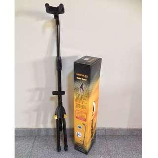 HERCULES AUTO GRIP SYSTEM (AGS) SINGLE GUITAR STAND W/BACKREST