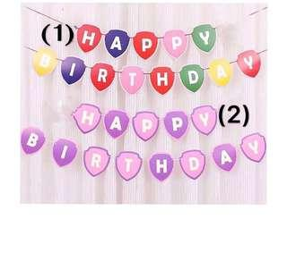 (19/10) Happy Birthday Banner /bunting party decoration
