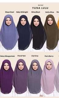 Khimar by Proper hijab yuna lulu instant hijab