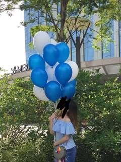 Forever 21 Blue Ruffle Off Shoulder Top
