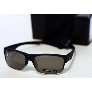 BRAND NEW Oakley Two Face Matte Black Ink w/ Prizm Black Lens (Asia Fit)