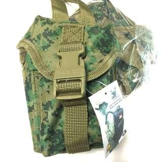 Accessory Pouch For IBA, LBV, Molle System. Measures 15cm (Height) x 9cm x 9cm. Weave Not Holster. 4 Colours : ARMY Pixelated Green, Black, Khaki and Digital Grey. 7th & 8th Pics show how to weave to the Molle System.