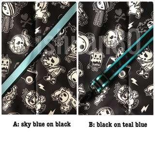 0.75 inch dual color blue black seat belt strap for jujube