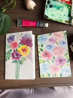 Handmade watercolour card