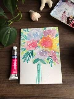 Handpainted watercolour card