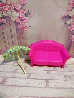 Mattel Barbie Doll Sofa