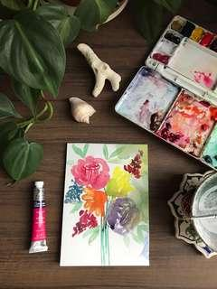 Handpainted Watercolour Cards