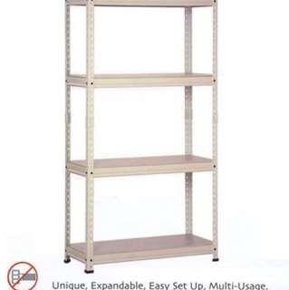 Store Room Boltless Rack w/ Metal Shelves