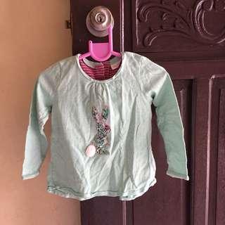 Green Longsleeve for Girls 12-18m