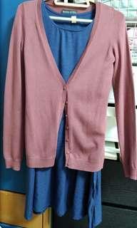 啡色針織外套