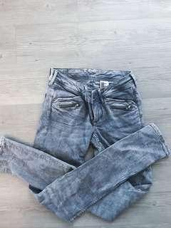 BN H&M Super skinny super low waist Grey Jeans