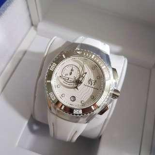 💯 Authentic TechnoMarine Tm-115377 Cruise Women's 40mm White Dial White Rubber Watch