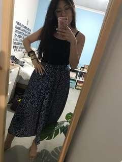 Monki polka dot midi skirt