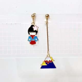耳夾🧡全新日本娃娃富士山款(08)
