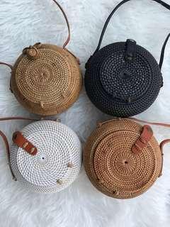 Rattan Bowl Bag