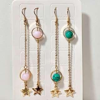 耳環💙全新長吊飾簡單文青款(08)